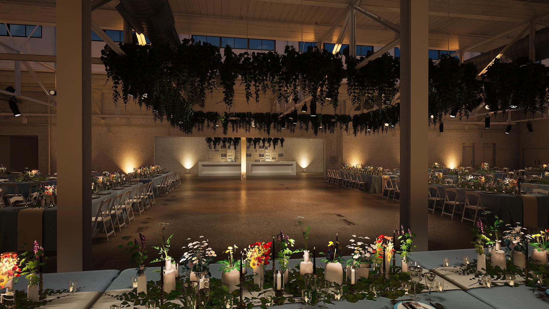 dinner head table view evening The Madison - Cleveland's Event Reception Venue for Parties